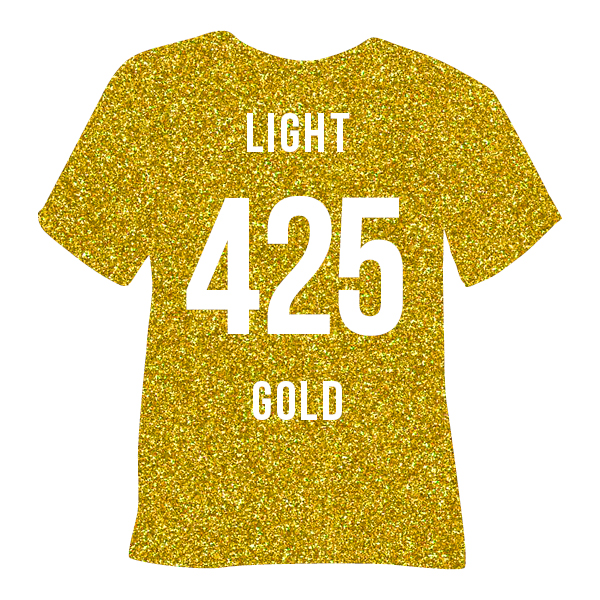 Light Gold Pearl Glitter Heat Transfer Vinyl