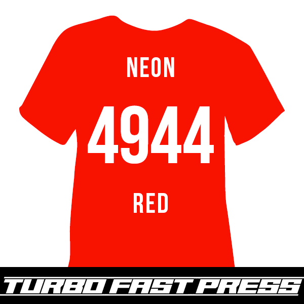 Neon Red Turbo Heat Transfer Vinyl