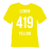 Lemon Yellow Heat Transfer Vinyl