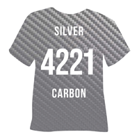 Silver Carbon Heat Transfer Vinyl