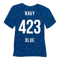 Navy Blue Pearl Glitter Heat Transfer Vinyl