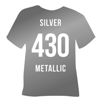 Silver Metallic Heat Transfer Vinyl