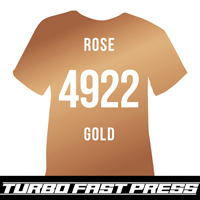 Rose Gold Metallic Turbo Heat Transfer Vinyl