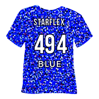 Blue Starflex Heat Transfer Vinyl